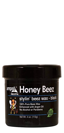 AmPro Honey Beez Stylin' Beez Wax Black 4 oz