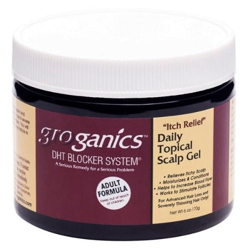 Groganics - DHT Blocker System Itch Relief Daily Topical Scalp Gel 6 oz