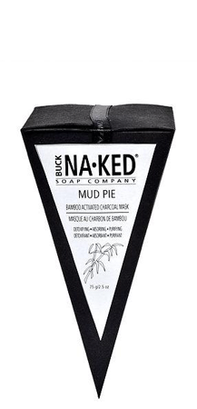 Buck Naked Soap Company Bamboo Activated Charcoal Clay Mud Pie