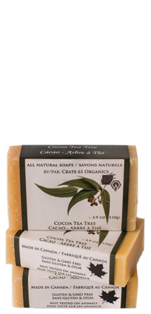 CRATE61 ORGANICS - COCOA TEA TREE SOAP