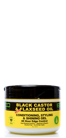ECOCO - BLACK CASTOR & FLAXSEED OIL CONDITIONING, STYLING & SHINING GEL