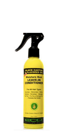 ECOCO - BLACK CASTOR & FLAXSEED OIL LEAVE-IN CONDITIONER