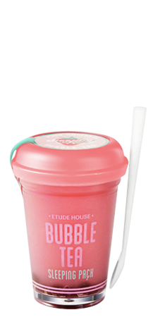 ETUDE HOUSE BUBBLE TEA SLEEPING PACK - STRAWBERRY