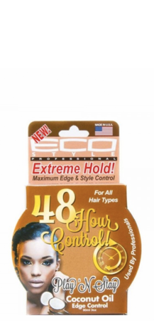Eco Style Professional 48 Hour Control Coconut Oil Edge Control 3 oz