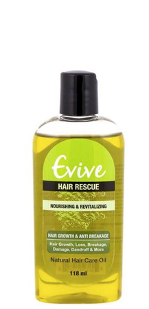 Evive Hair Rescue Natural Hair Care Oil 4 oz