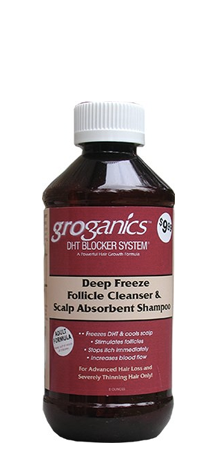 Groganics DHT Blocker Deep Freezer Follicle Cleanser and Shampoo 8 oz