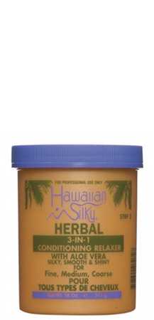 Hawaiian Silky Herbal 3-in-1 Conditioning Relaxer with Aloe Vera 18 oz