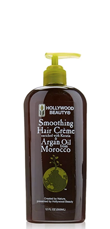 Hollywood Beauty Smoothing Hair Creme with Argan Oil from Morocco 12 fl oz