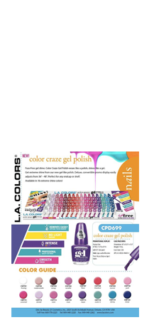 L.A Color craze gel extreme shine polish