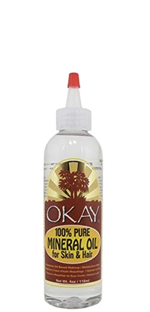 OKAY 100 Percent Pure Mineral Oil for Skin and Hair 4 oz