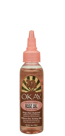 OKAY Paraben Free Rose Oil relieves Dry Itching Skin 2 oz