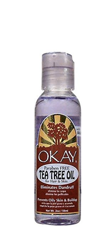 OKAY Paraben Free Tea Tree Oil for Dandruff and Dry Itchy Skin 2 oz