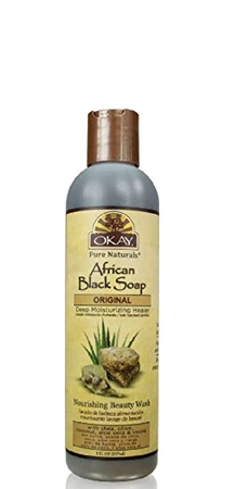 OKAY Pure Naturals African Black Soap Beauty Wash 8 fl oz