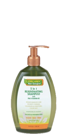 Organic Hair Energizer - 5 in 1 Rejuvenating Shampoo with Pro-Vitamin-B5 13 fl oz