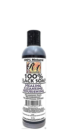 RA Cosmetics 100 Percent Natural Black Soap