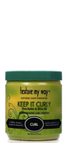 Texture my Way Keep it Curly Shea Butter and Olive Oil Ultra-Defining Curl Pudding 15 oz