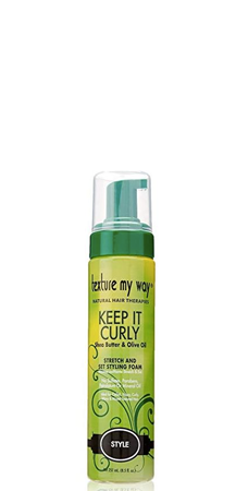 Texture my Way Keep it Curly Stretch and Set Styling Foam 8.5 fl oz