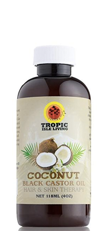 Tropic Isle Living Coconut Black Castor Oil Hair and Skin Therapy 4 oz