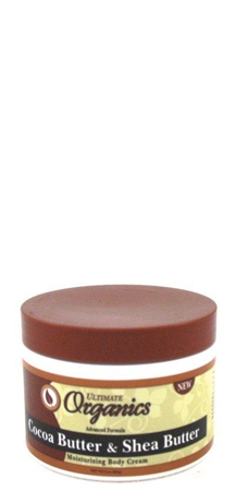 Ultimate Organics Cocoa Butter and Shea Butter Body Cream 8 oz