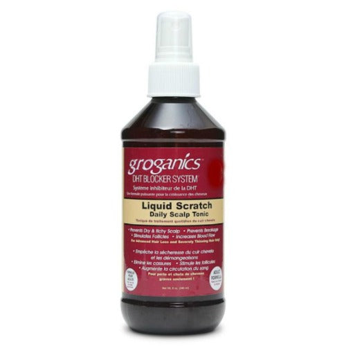 Groganics - DHT Blocker Liquid Scratch Daily Scalp Tonic 8 fl oz