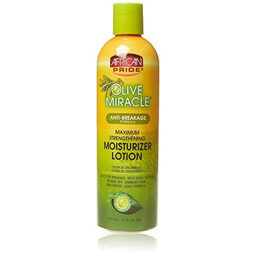 African Pride - Olive Miracle Maximum Strengthening Moisturizer Lotion 12 fl oz