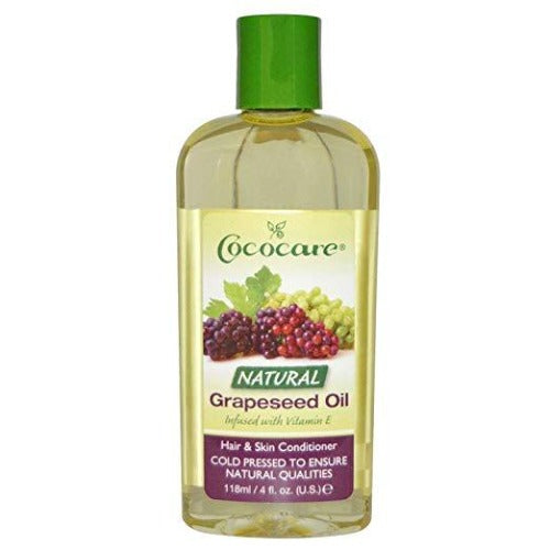 Cococare - 100 Percent Natural Grapeseed Oil with Vitamin E 4 fl oz