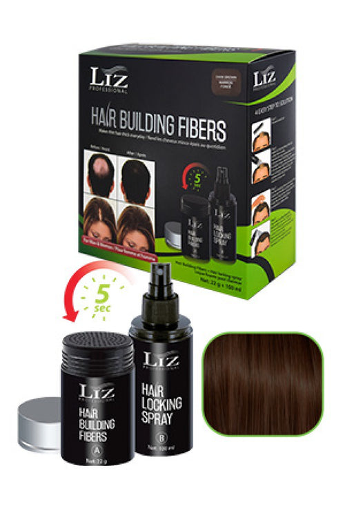 LIZ Hair Building Fibers & Locking Spray Black