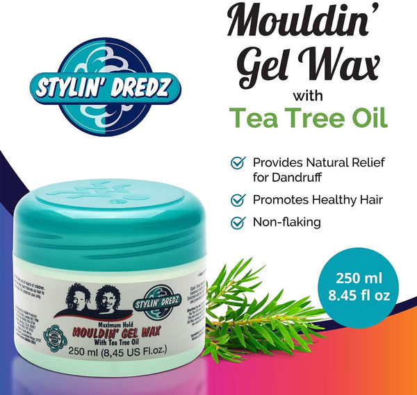 Stylin' Dredz - Maximum Hold Mouldin Gel Wax with Tea Tree Oil