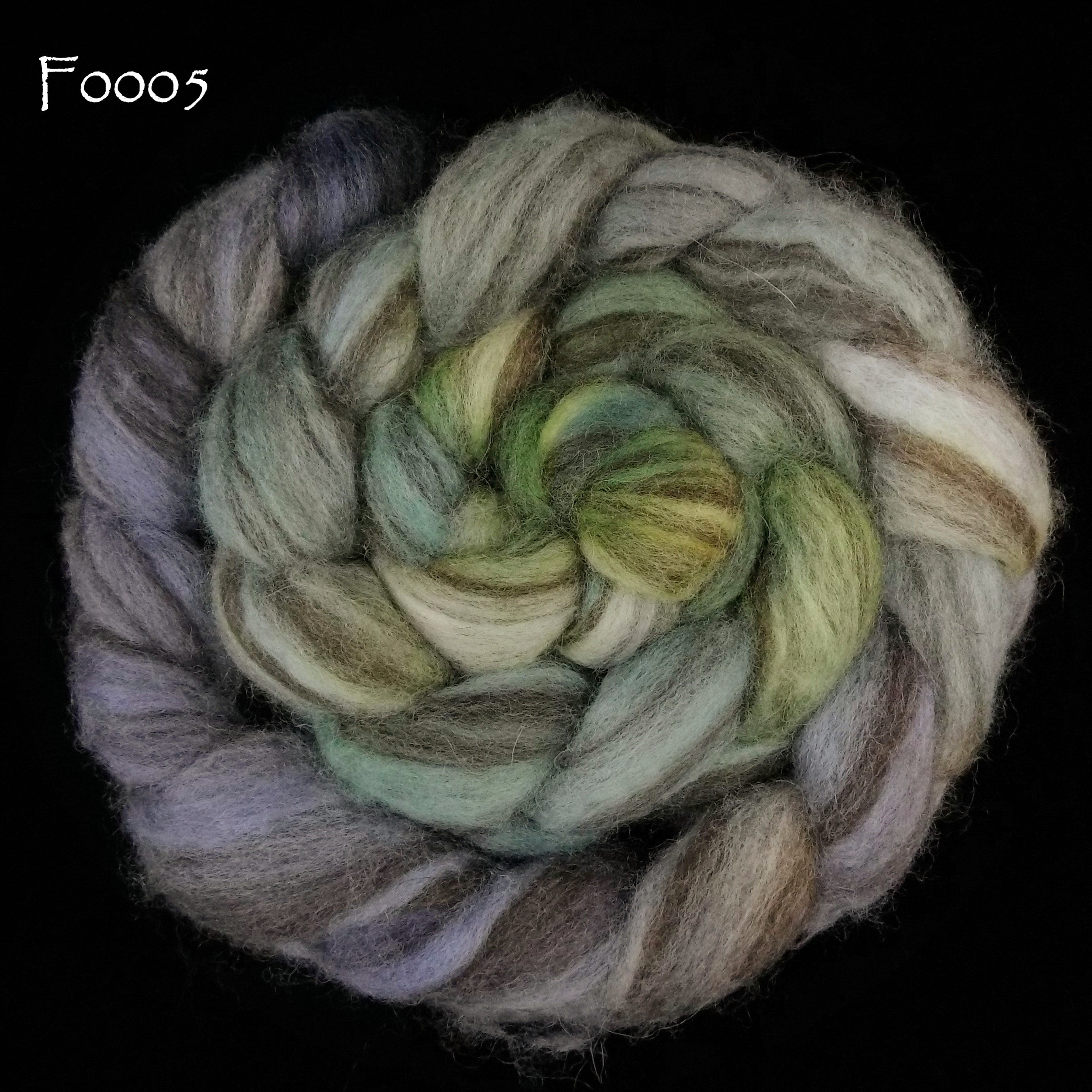Mixed BFL Painted Top, 4 oz braid