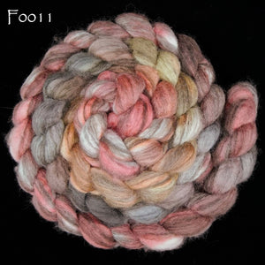 Mixed BFL Painted Top, 8 oz braid