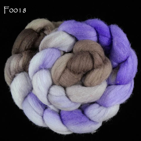 Targhee Wool Painted Top, 4 oz braid