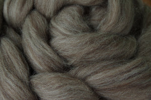 Black BFL Combed Top, Undyed