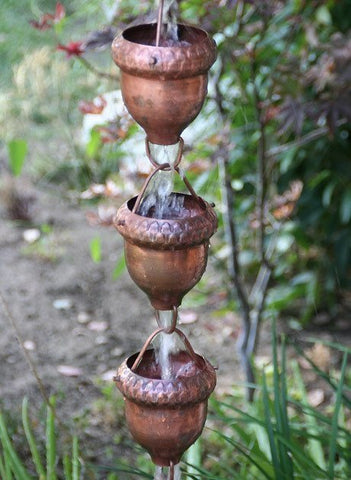 Rainchains, copper acorn, dragonfly, rain chain, exterior style, décor,