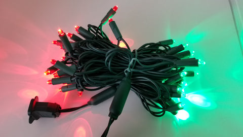 Seasonal Source - Red and Green Convex Mini Light Strand
