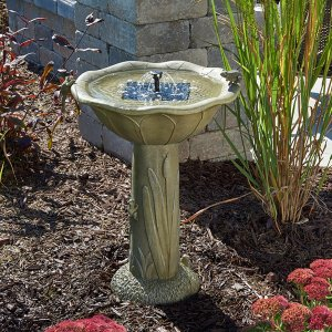 Smart Living Home and Garden - Acadia Solar Birdbath Fountain