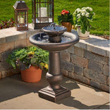 Smart Living Home and Garden - Chatsworth 2-Tier Solar-On-Demand Fountain - Bronze