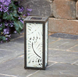 Smart Living Home and Garden - Solar Powered Palm Leaf Square Lantern