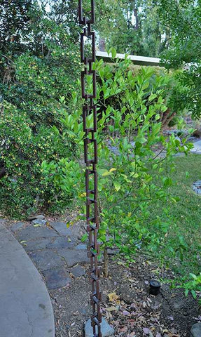 Rainchains - 3199-BRZ - Architectural Links Bronze. 8.5 Foot Chain - Yard Outlet