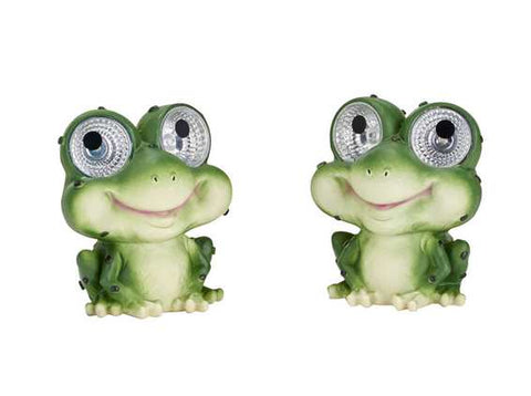 Smart Living Home and Garden -3590WRM2 - Solar Garden Pals - Frog - Set of 2 - Smart Living Home and Garden