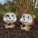 Smart Living Home and Garden - 3594WRM2 - Solar Garden Pals - Squirrel - Set of 2 - Smart Living Home and Garden
