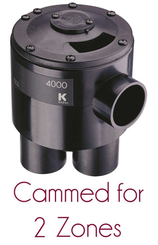 "K-rain - 4402 - Indexing Valve, 4 Outlet 1 1/4"" x 1-1/4"", Cammed for 2 Zones - K-Rain"