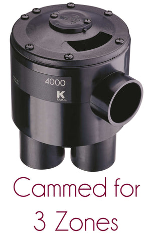 "K-rain - 4403 - Indexing Valve, 4 Outlet 1 1/4"" x 1-1/4"", Cammed for 3 Zones - K-Rain"