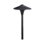 "Vista Outdoor Lighting - PR-4704-B-W-T3 - 4704 12-Volt LED Aluminum 7.5"" Round Path Light, Black, Warm, 2.5 Watt - Vista Outdoor Lighting"