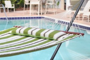 Smart Living Home and Garden - Santorini Reversible Double Hammock - Green/Stripe
