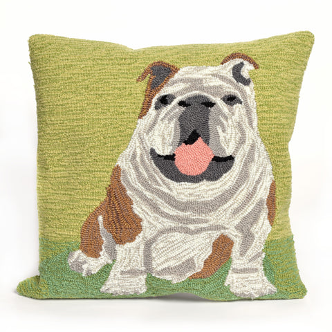 "Liora Manne - 7FP8S156706 - Frontporch Wet Kiss Indoor/Outdoor Pillow Green 18"" Square - Liora Manne"