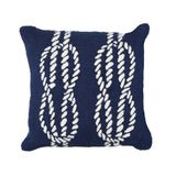 "Liora Manne - 7FP8S163633 - Frontporch Ropes Indoor/Outdoor Pillow Navy 18"" Square - Liora Manne"