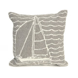 "Liora Manne - 7FP8S167347 - Frontporch Sails Indoor/Outdoor Pillow Grey 18"" Square - Liora Manne"