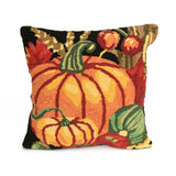 "Liora Manne - 7FP8S241248 - Frontporch Pumpkin Indoor/Outdoor Pillow Black 18"" Square - Liora Manne"