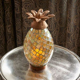 Smart Living Home and Garden - 83009 - Battery Powered, Ananas Glass Mosaic Pineapple with LED Candle and On/Off Timer - Smart Living Home and Garden