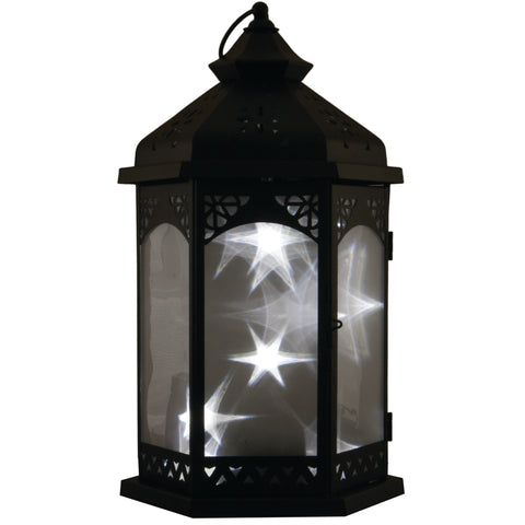 "Smart Living Home and Garden -84021-WLS - Baltimore 16"" H Star Lantern - Black - Smart Living Home and Garden"